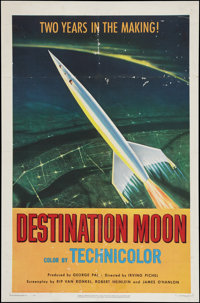 "Destination Moon (Pathé, 1950). One Sheet (27"" X 41""). Science Fiction"