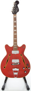 Musical Instruments:Electric Guitars, Circa 1973 Fender Coronado II Cherry Semi-Hollow Body ElectricGuitar, #501381....