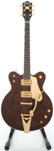 Musical Instruments:Electric Guitars, Reissue Gretsch Country Classic II 1962 Walnut Semi-Hollow BodyElectric Guitar....