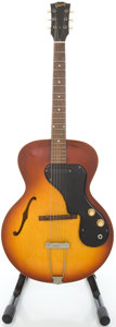 Musical Instruments:Electric Guitars, 1965 Gibson ES-120 T Ice Tea Burst Semi-Hollow Body Electric Guitar, #341175....