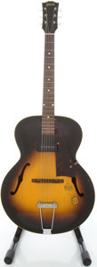 Musical Instruments:Electric Guitars, Circa 1954 Gibson ES-125 Sunburst Archtop Electric Guitar,#X8409....