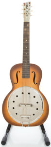 Musical Instruments:Acoustic Guitars, Circa 1930's Gretsch Regal-Made Sunburst Resonator Guitar....