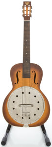 Musical Instruments:Acoustic Guitars, Circa 1934 Dobro Angelus Sunburst Resonator Guitar....