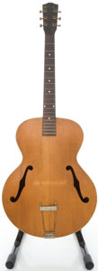 Musical Instruments:Acoustic Guitars, Circa late 1930's Kalamazoo KG Natural Archtop Acoustic Guitar....