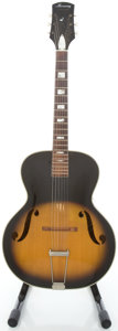 Musical Instruments:Acoustic Guitars, Circa late 1950's Harmony Monterey Sunburst Archtop Acoustic Guitar....