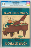 Golden Age (1938-1955):Funny Animal, March of Comics #41 Donald Duck - File Copy (K. K. PublicationsInc., 1949) CGC NM- 9.2 Off-white to white pages....
