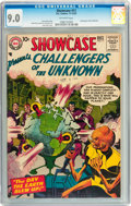 Silver Age (1956-1969):Superhero, Showcase #11 Challengers of the Unknown (DC, 1957) CGC VF/NM 9.0 Off-white pages....