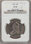Bust Half Dollars: , 1826 50C VF20 NGC. NGC Census: (11/1336). PCGS Population(12/1588). Mintage: 4,000,000. Numismedia Wsl. Price for problem...