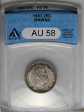 Coins of Hawaii: , 1883 25C Hawaii Quarter AU58 ANACS. NGC Census: (44/505). PCGS Population (71/829). Mintage: 500,000. (#10987)...
