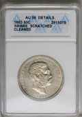 Coins of Hawaii: , 1883 50C Hawaii Half Dollar--Cleaned, Scratched--ANACS. AU58Details. NGC Census: (33/109). PCGS Population (34/169). Minta...