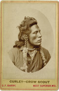 Photography:Cabinet Photos, CURLEY - GENERAL CUSTER'S CROW SCOUT BY D.F. BARRY Beautifullydetailed cabinet image of Curley, the most noted of Custer's ...(Total: 1 Item)