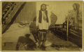 "Photography:Cabinet Photos, RARE KICKING BEAR PHOTOGRAPH. Unusual ""boudoir"" cabinet of medicineman Kicking Bear, a chief among the Miniconjou Sioux. Ki... (Total:1 Item)"