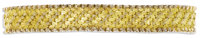 Gold Bracelet  The 18k yellow gold bracelet has a textured basketweave design. French hallmarks. Gross weight 29.40 gram...