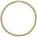 Estate Jewelry:Necklaces, Gold Bead Necklace. The necklace is composed of 14k yellow gold beads measuring 7.00 mm, forming a single strand. Gross we...