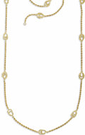 Estate Jewelry:Necklaces, Gold Necklace. The 14k yellow gold chain features rope chain alternating with open wire fancy links. Gross weight 43.60 gr...
