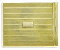Estate Jewelry:Other , Art Deco Gold Cigarette Case, Gold, Most & Fogel, Inc.. The 14k yellow gold double hinged and spring loaded flip top cigar...