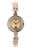Timepieces:Wristwatch, Rolex, Lady's Rose Gold Shell, Metal Case Bracelet Wristwatch, Circa 1930. Case: 21 mm, base metal and rose gold rolled pl...