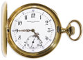 Timepieces:Pocket (post 1900), Vacheron & Constantin Gold Hunting Case Pocket Watch, Circa1908. Case: 46 mm, 18k yellow gold, case No. 90397197 C.R. Boa...