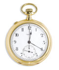 Estate Jewelry:Other , Tiffany & Co., Gold Chronograph Timer Openface, Pocket Watch,Patented 1880. Case: 48 mm, 18k yellow gold, case No. 319017...