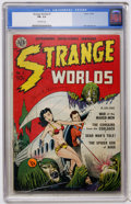 Golden Age (1938-1955):Science Fiction, Strange Worlds #1 (Avon, 1950) CGC FN- 5.5 Off-white pages....