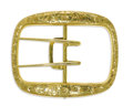 Estate Jewelry:Other , Victorian Gold Buckle. The 14k yellow gold buckle has an engravedfloral and foliate motif. Inscribed on reverse. Weight 1...