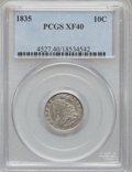 Bust Dimes: , 1835 10C XF40 PCGS. PCGS Population (41/370). NGC Census: (12/398).Mintage: 1,410,000. Numismedia Wsl. Price for problem f...