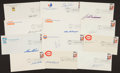Baseball Collectibles:Others, Baseball Greats Signed First Day Covers Lot of 13....