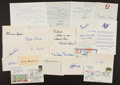 Baseball Collectibles:Others, Baseball Greats Signed Index Cards, Cut Signatures and Others Lotof 23....