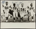 """Football Collectibles:Photos, Los Angeles Rams """"Fearsome Foursome"""" Multi Signed Oversized Photograph...."""