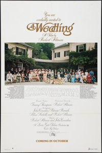 "A Wedding (20th Century Fox, 1978). One Sheets (2) (27"" X 41"") Advance and Regular. Comedy. ... (Total: 2 Item..."