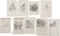 Books:Children's Books, Garth Williams. Nine Rough Sketches and Preliminary Drawings forIllustrations for Farmer Boy by Laura Ingalls... (Total: 9Items)