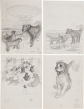 Books:Children's Books, Garth Williams. Twelve Preliminary Drawings for Harry Cat's PetPuppy by George Selden, 1973....