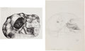 Books:Original Art, Garth Williams (American 1912-1996). Two Drawings for HarryCat's Pet Puppy by George Selden. [N.p., n.d...
