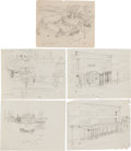 Books:Children's Books, Garth Williams. Eight Rough Sketches and Drawings for UnusedIllustrations for Farmer Boy by Laura Ingalls Wil... (Total:8 Items)