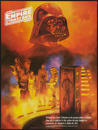 "The Empire Strikes Back (20th Century Fox, 1980). Coca Cola Promotional Tie-In Poster (18"" X 24"") # 3 / 3, Han..."