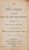Books:Americana & American History, [Pony Express Bible]. The Holy Bible, Containing the Oldand New Testaments, Translated Out of the Original Tong...