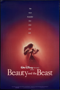 """Beauty and the Beast (Buena Vista, 1991). One Sheet (27"""" X 40"""") DS Advance. Animation"""
