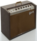 Musical Instruments:Amplifiers, PA, & Effects, Circa 1964 Gibson Discoverer Tremolo Brown Guitar Amplifier, #740948....