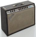 Musical Instruments:Amplifiers, PA, & Effects, 1970's Fender Deluxe Reverb Silverface Guitar Amplifier, Serial #A742120....