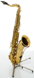 Musical Instruments:Horns & Wind Instruments, Circa 1960's The Martin Indiana RMC Brass Tenor Saxophone, #82690....