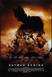 "Batman Begins (Warner Brothers, 2005). One Sheets (2) (27"" X 40"") DS Advance Styles. Action. ... (Total: 2 Ite..."