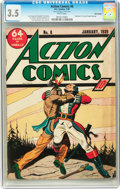 Golden Age (1938-1955):Superhero, Action Comics #8 Billy Wright pedigree (DC, 1939) CGC VG- 3.5 White pages....