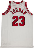 "Basketball Collectibles:Uniforms, Michael Jordan Signed Chicago Bulls ""Upper Deck Authenticated""Jersey...."