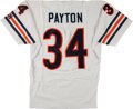 Football Collectibles:Uniforms, Walter Payton Signed and Inscribed Chicago Bears Jersey - Steiner Sports!...