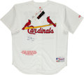 """Baseball Collectibles:Uniforms, Mark McGwire """"583 HR's, ROY 87"""" Signed and Inscribed St. Louis Cardinals Jersey - Steiner Sports. ..."""
