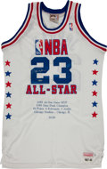 "Basketball Collectibles:Uniforms, Michael Jordan Signed 1987-88 All Star ""Upper Deck Authenticated""Jersey...."