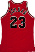 "Basketball Collectibles:Uniforms, 1996-97 Michael Jordan Signed Chicago Bulls ""Upper DeckAuthenticated"" Jersey. ..."