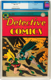 Detective Comics #103 Rockford pedigree (DC, 1945) CGC NM+ 9.6 Off-white to white pages