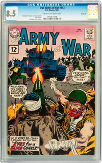 Our Army at War #113 Savannah pedigree (DC, 1961) CGC VF+ 8.5 Cream to off-white pages