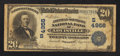 National Bank Notes:Kentucky, Louisville, KY - $20 1902 Plain Back Fr. 658 The American-SouthernNB Ch. # (S)4956. ...